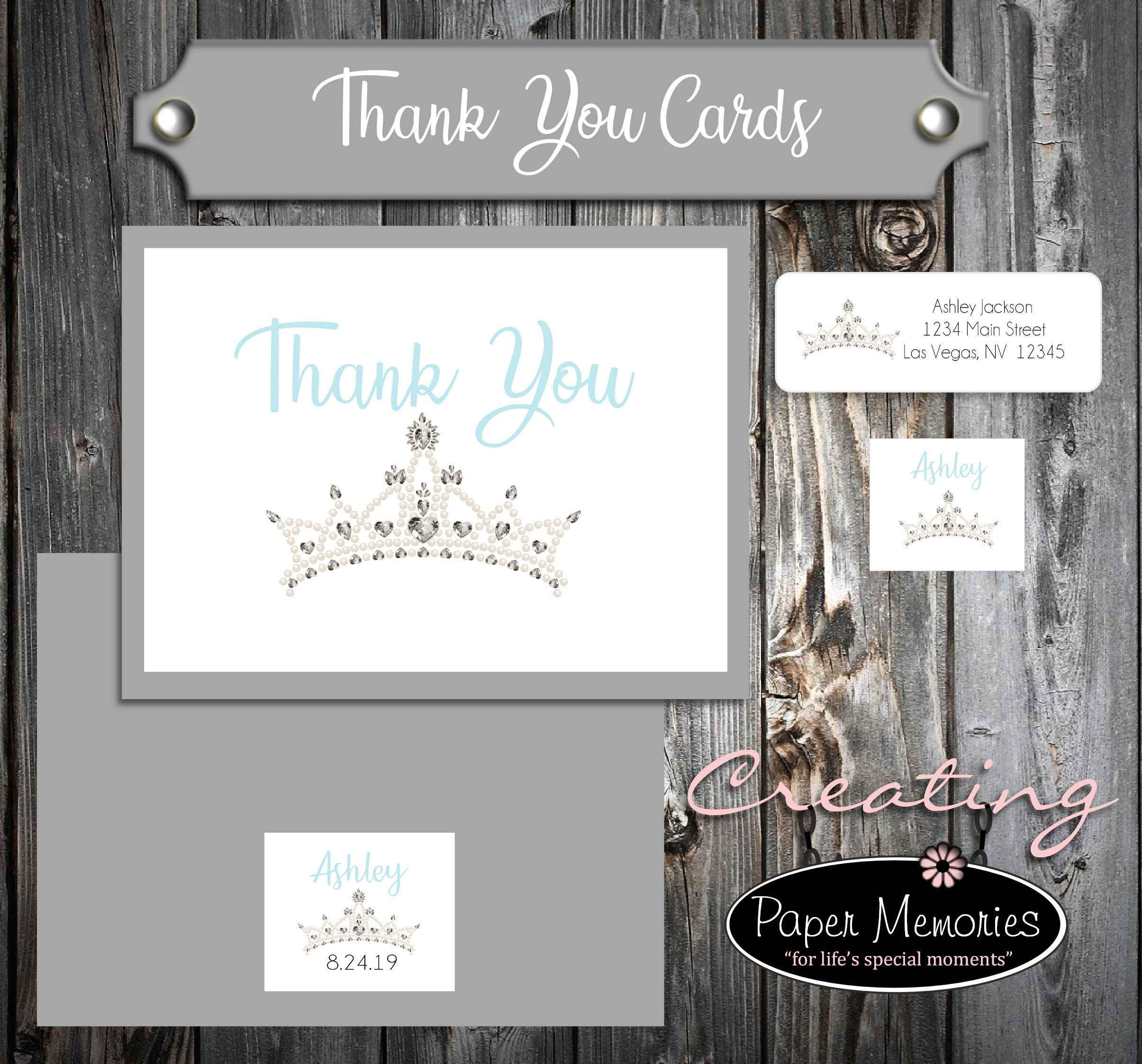 25 Birthday Thank You Cards