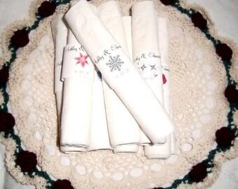 50 Snowflake Wedding Napkin Ring Cuffs Wraps. Personalized Favors
