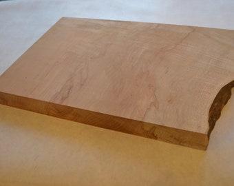 Live edge maple cutting/serving board