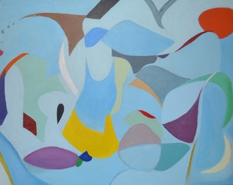 Blue Bird Abstract