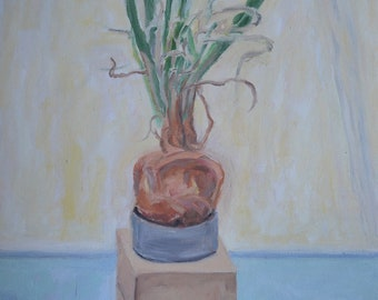 "The Lowly Onion as Art 14"" x 18"" x 3/4"""