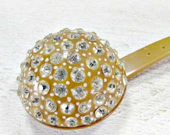 Antique Art Deco Hair Stick, Rhinsetone Crystal Hair Stick, Celluloid Hair Stick, Hair Ornament, 1920s Flapper Great Gatsby Hair Accessory