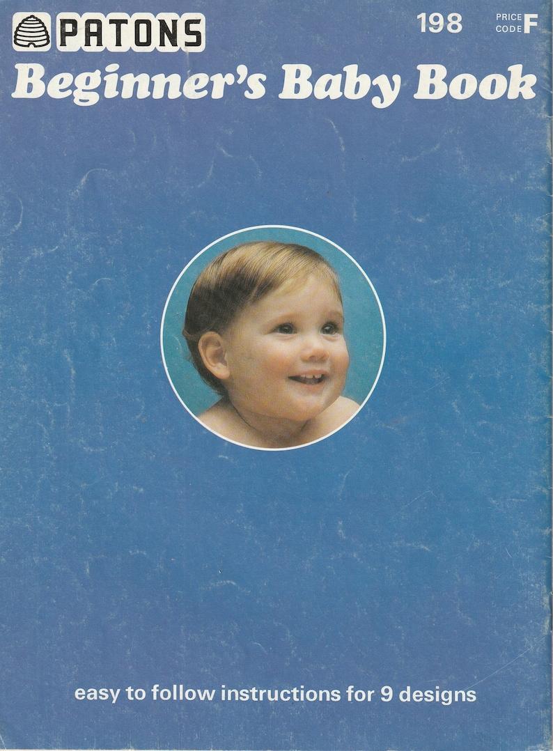 Beginner/'s Baby Book  Knitting Pattern Patons 198-1970s Babies Baptism Christening Blanket Shawl Cardigan Hat Patterns Knit PDF