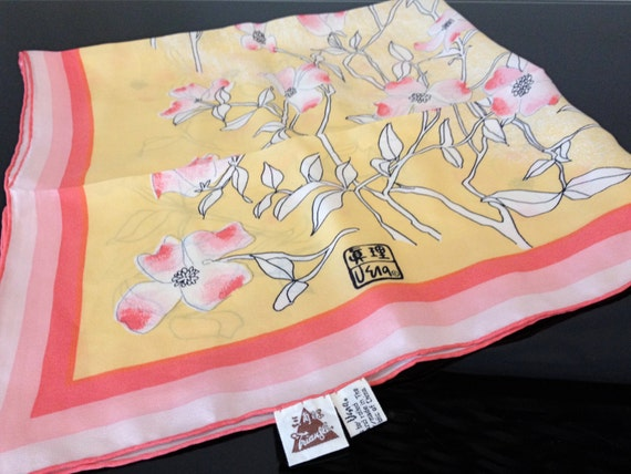 Vera Neumann Hand Printed Silk Scarf - Peoples Rep
