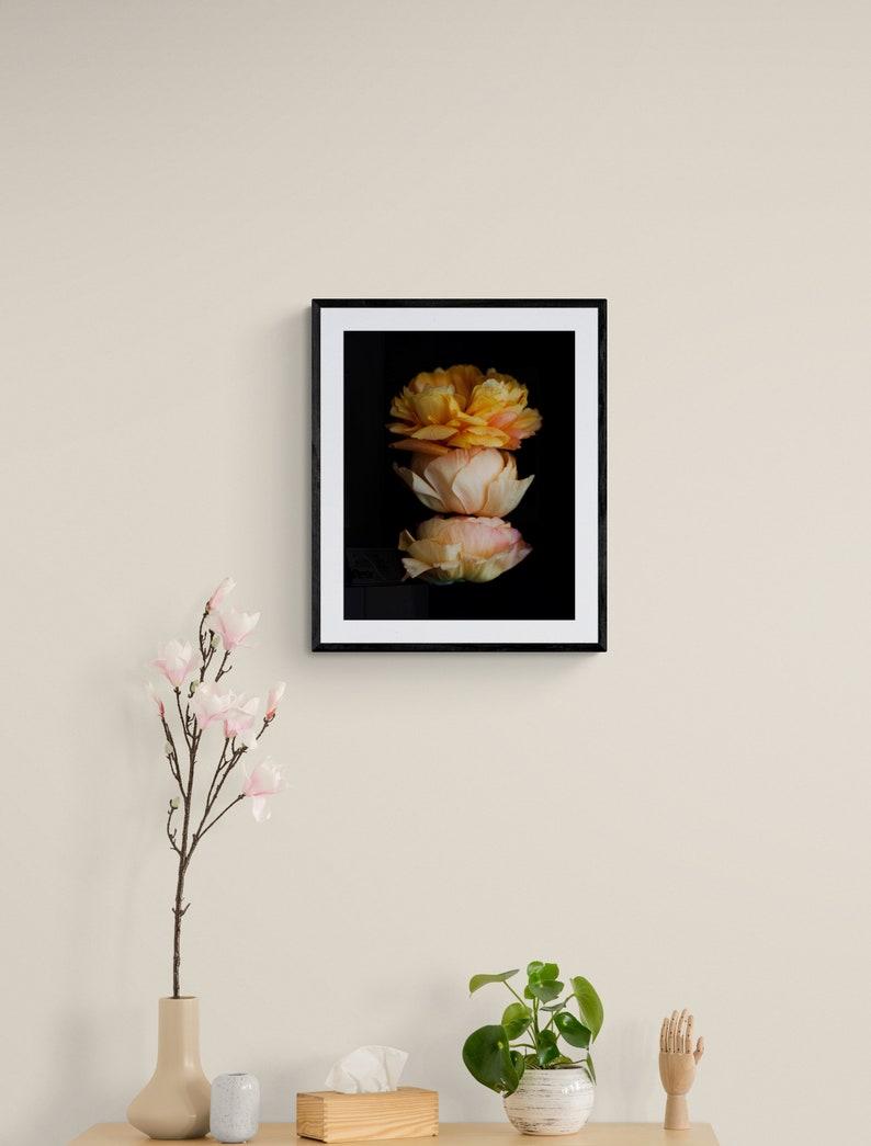 wall decor for living room bedroom botanical art floral art for girls orange botanical print floral nursery art