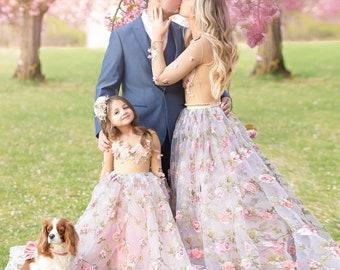 Jenna, our Spring flower girl dress design, mommy and me dress set