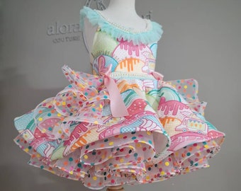 Candy Land Mini, our colorful short puffy party dress