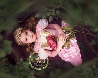 Sleeping beauty dress, couture princess Aurora inspired dress