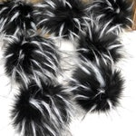 Spotted Desert Wolf Faux Fur Pom Pom