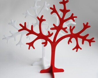 Coral Earring  or Jewelry Tree - Red