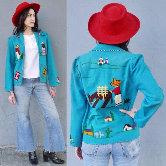 Guatemalan Souvenir Jacket Wool 1940s