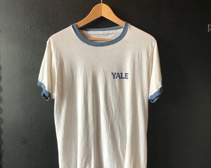 1970 Rare Yale University Vintage Ringer T-Shirt