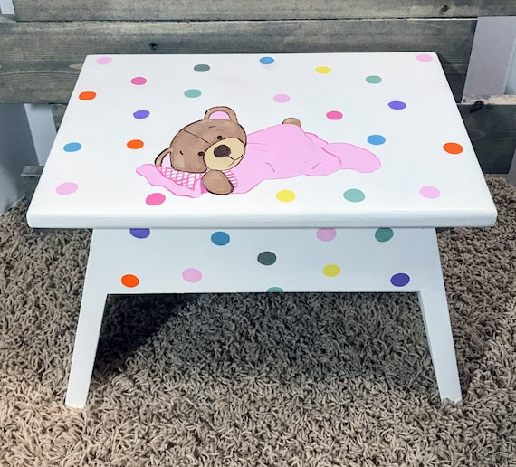 Cool Childrens Furniture Step Stool Personalized Wooden Step Stool For Children Gift For Kids Step Stools Childrens Personalized Stools Customarchery Wood Chair Design Ideas Customarcherynet