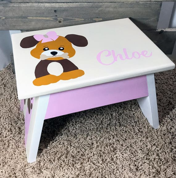 childrens furniture step stool personalized wooden step stool etsy