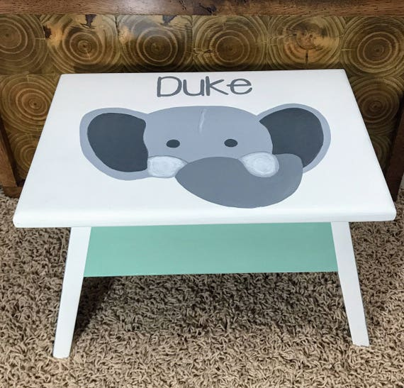 Awe Inspiring Personalized Nursery Decor Baby Boy Personalize Baby Gift Ideas Gift For Baby Step Stool Wooden Step Stool For Toddler Kids Step Stools Alphanode Cool Chair Designs And Ideas Alphanodeonline