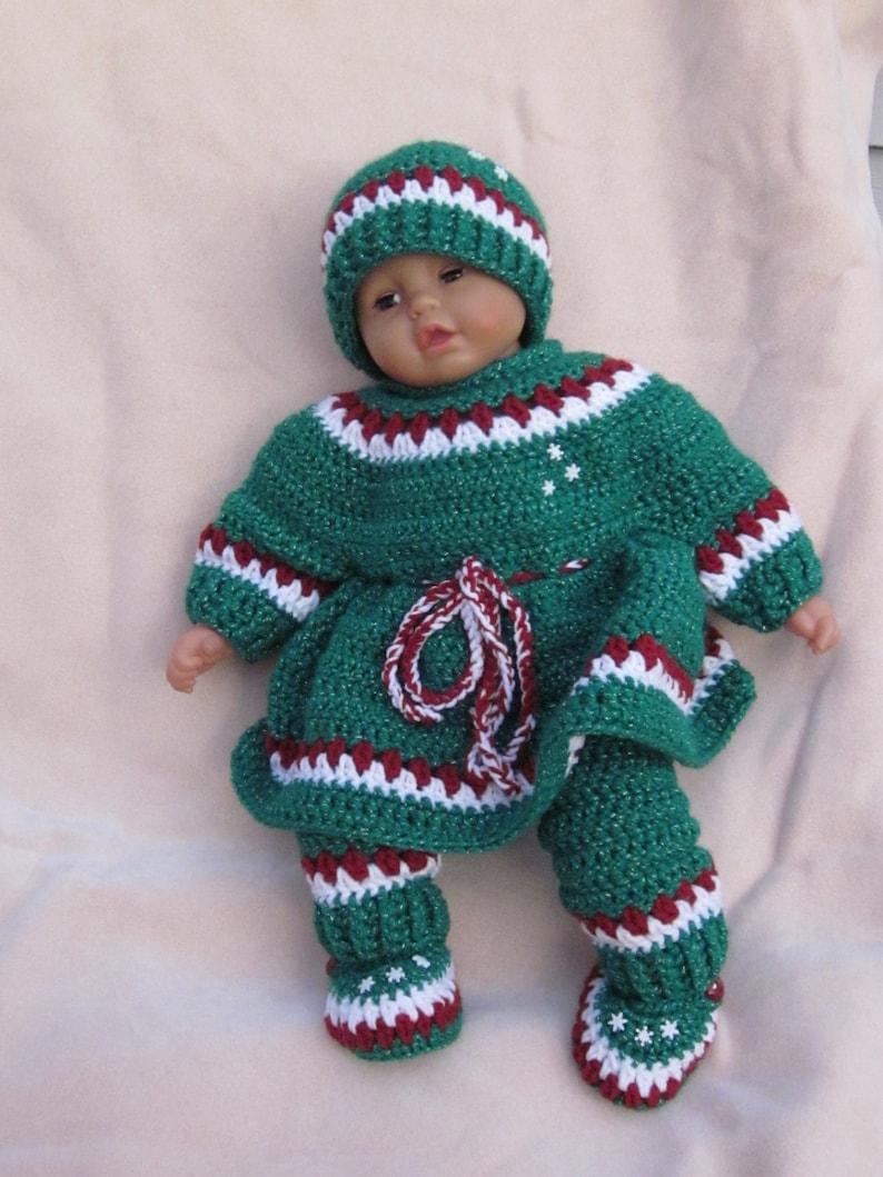 002bfb89d4b4 Handmade baby Holiday crochet dress set Newborn Baby