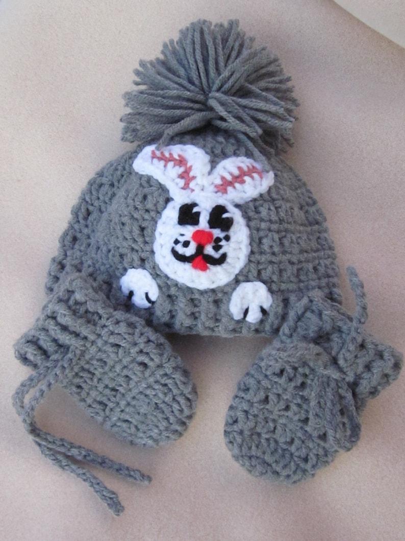 Baby Beanie Bunny Applique crochet baby hat Christmas Gift Baby Hat with Aplique Crochet Baby Hat Photo Prop Beanie Newborn Hat