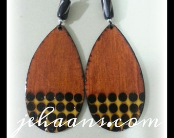 Honey and Mustard spotted Tribe Earrings