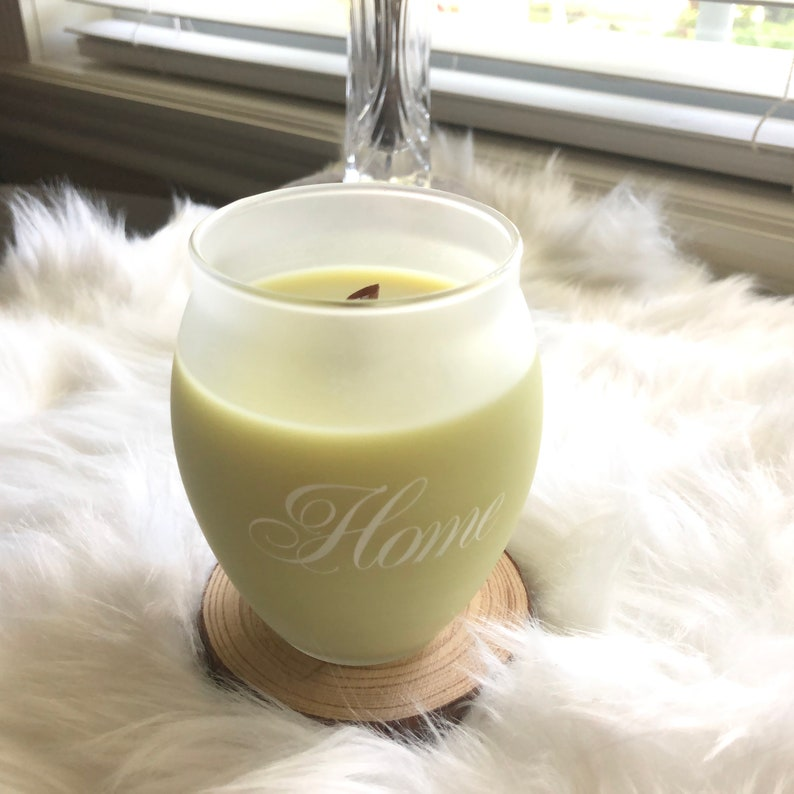 8 oz Cotton Candy Handmade Natural Soy Wax Wood Wick Blue//Purple Candle