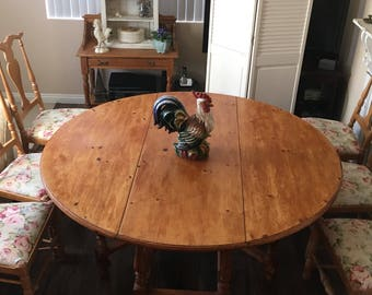 Pine Drop Leaf Table Etsy