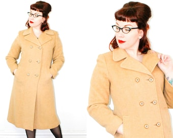 Chanterelle . classic 1950s camel hair coat . md / medium