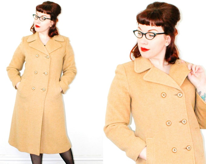 Featured listing image: Chanterelle . classic 1950s camel hair coat . md / medium