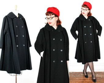 Dear Valentine . 1950s Lilli Ann eyelash wool swing coat
