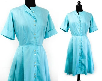1960s shirtwaist dress // Blue Plate Special vintage 1960s dress . md / lg