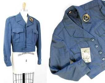 Vintage 1940s USAF jacket // early issue Air Force blues dress uniform Ike jacket dated 1949