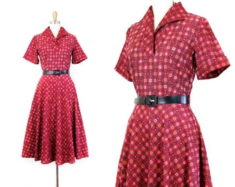 Juliette Cherry // 1950s Fruit of the Loom red cotton dress sm