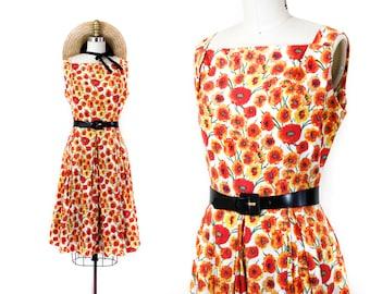 June Bloom // 1950s orange poppy print sundress by McKettrick md