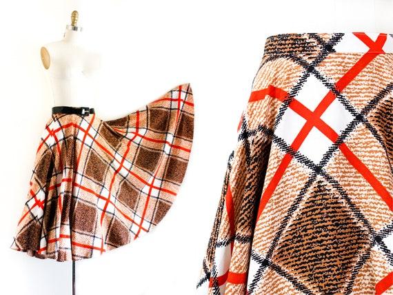1960s plaid circle skirt // Harvest Dance vintage