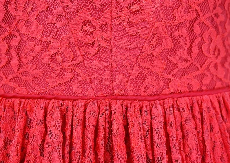 md 1950s red dress  Santa Baby vintage 1950s lace dress  vintage party dress