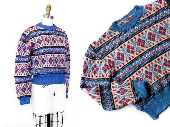 1940s knit sweater // Alpine Sky vintage 1940s Aus