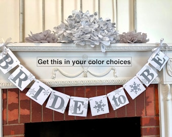 winter bridal shower decorations snowflake bride to be banner silver winter wonderland bridal shower decor you pick the colors