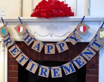 teacher retirement party banner retirement banner etsy