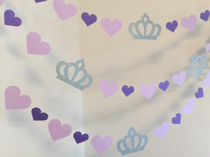 Princess Birthday Garland Purple Princess 1st birthday garland Princess Birthday Party Decorations Princess Decor