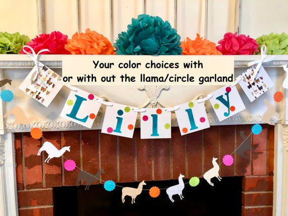 Llama Personalized Happy Birthday Banner Baby Shower