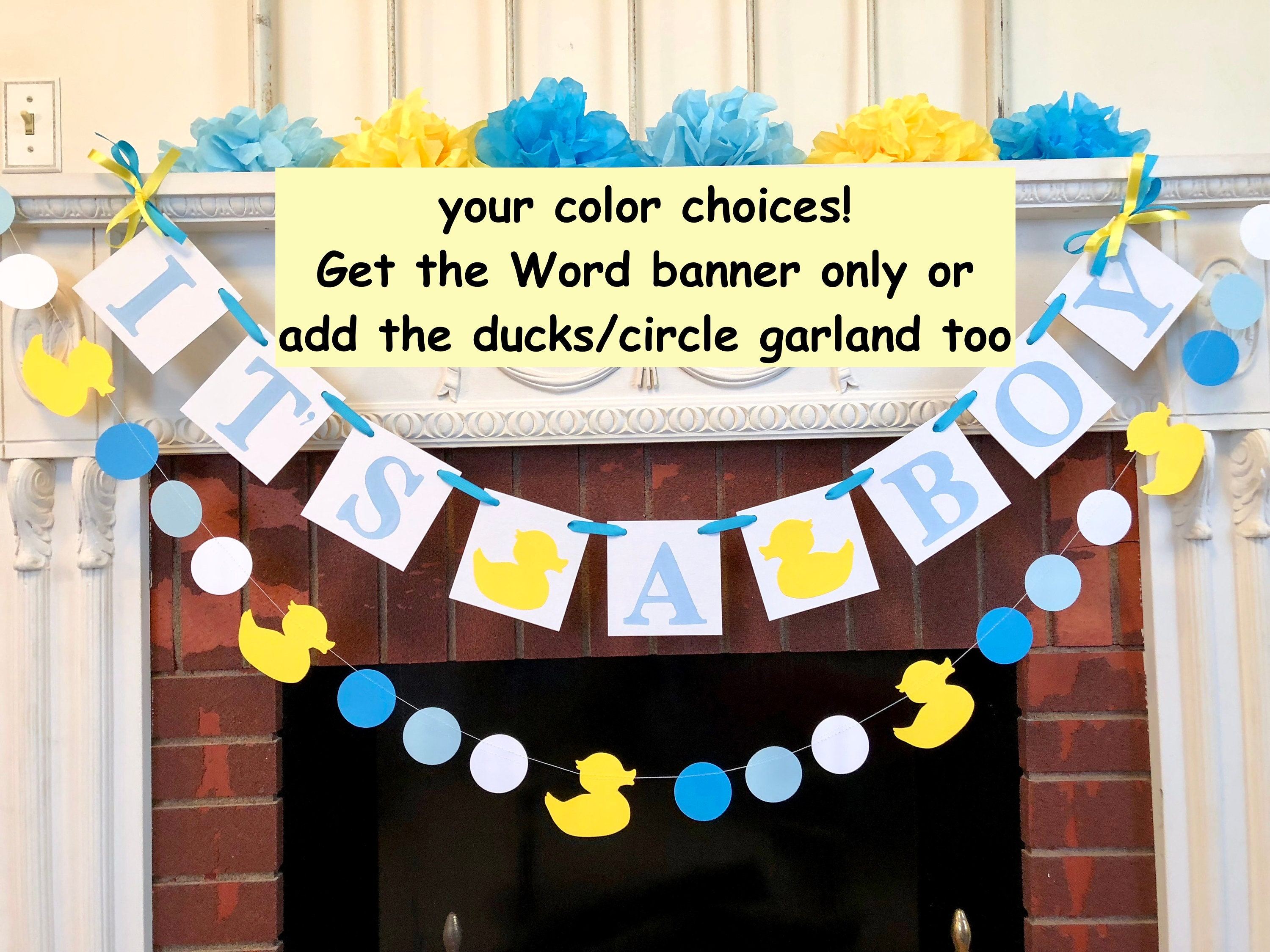 Rubber Duck Baby Shower Decorations Its A Boy Baby Shower Duck Banner Duckling Nursery Decorations Baby Duck Baby Shower