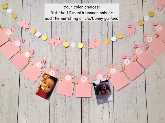New 7x5ft Cute Bunny Girl 1st Birthday Party Backdrop Pink Rabbit Some Bunny One First Birthday Cloud Stars Balloons Easter Photography Background Photo Banner Poster