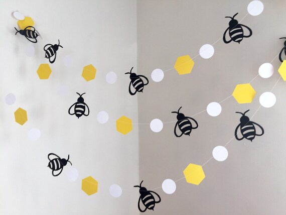 Mommy To Bee Bumble Bee Baby Shower Decorations Bumble Bee Etsy