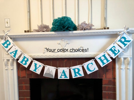 Adventure Baby Shower Decorations Personalized Explorer Baby Name