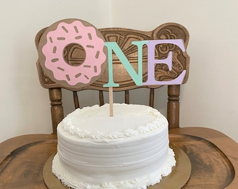 Donut First Birthday Cake Topper - Donut Grow Up Topper - Sweet ONE Cake Smash Cake Topper- First Birthday Photo Prop