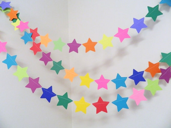 Birthday Decorations Boy Girl Star Banner Rainbow