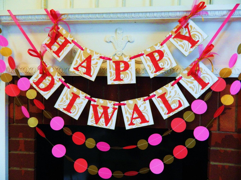 Diwali Decorations Happy Diwali Banner Festival Of Lights Etsy