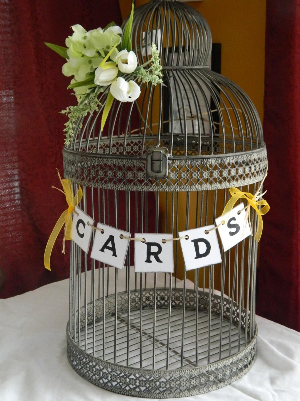 Wedding Cards Box Suitcase Banner-Wedding Cards Birdcage ...