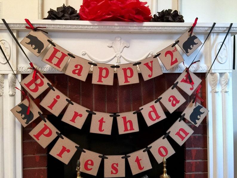 Baby Bear 1st 2nd 5th Birthday Decorations Black