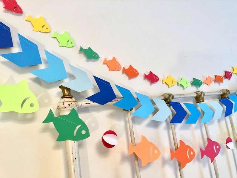 The Big One Fishing 1st Birthday Decor Gone Fishing Baby Etsy