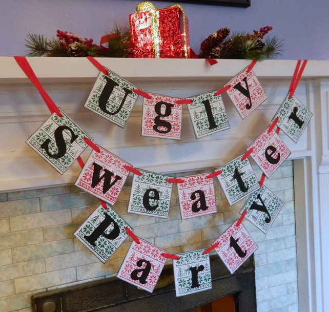 image 0 - Ugly Christmas Sweater Party Decorations
