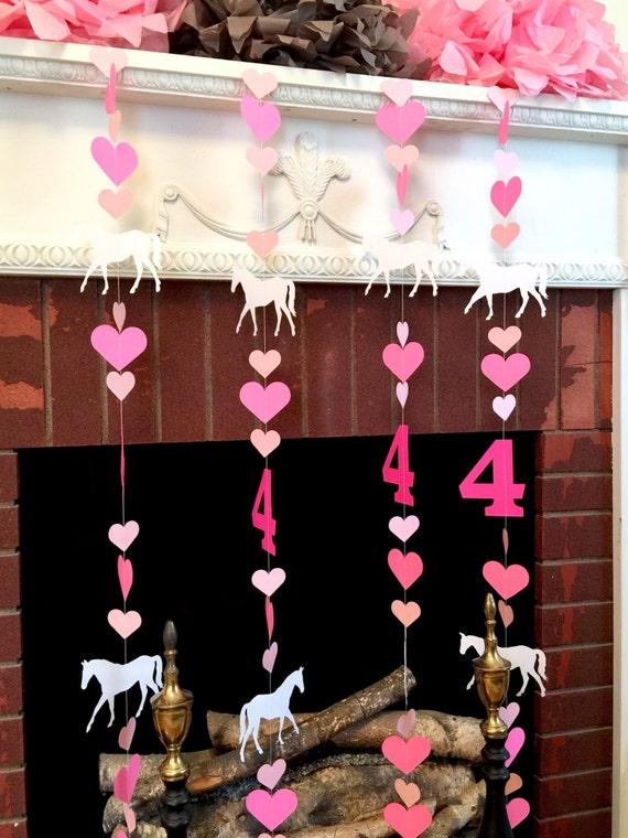 Pony Birthday Garland